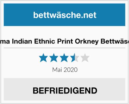 De Cama Indian Ethnic Print Orkney Bettwäscheset Test