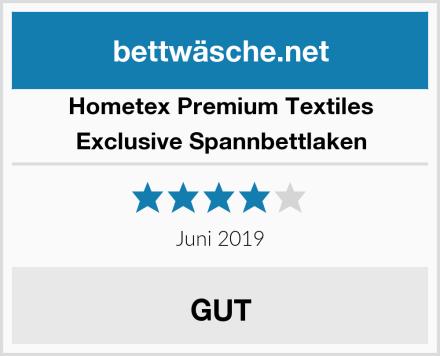 Hometex Premium Textiles Exclusive Spannbettlaken Test