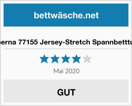 biberna 77155 Jersey-Stretch Spannbetttuch Test
