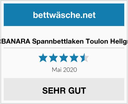 URBANARA Spannbettlaken Toulon Hellgrau Test