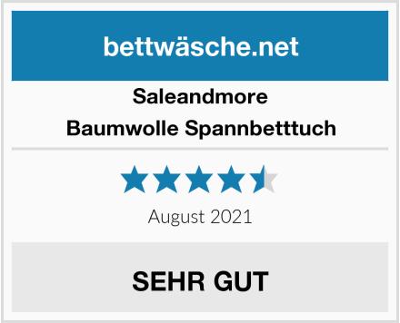 Saleandmore Baumwolle Spannbetttuch Test