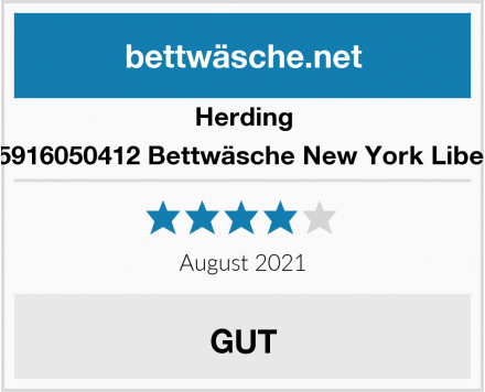 Herding 485916050412 Bettwäsche New York Liberty Test