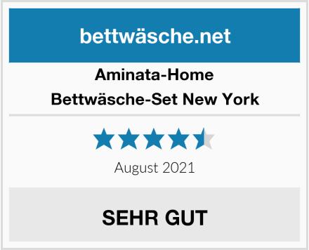 Aminata-Home Bettwäsche-Set New York Test