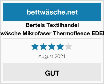 Bertels Textilhandel Bettwäsche Mikrofaser Thermofleece EDELINE Test