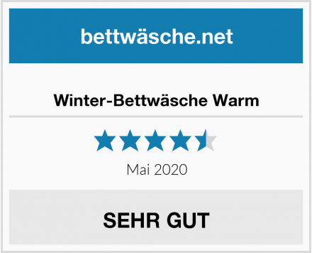 Winter-Bettwäsche Warm Test