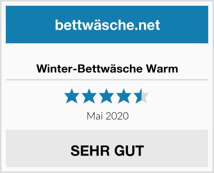 Winter-Bettwäsche Warm Test