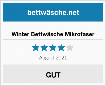 Winter Bettwäsche Mikrofaser Test