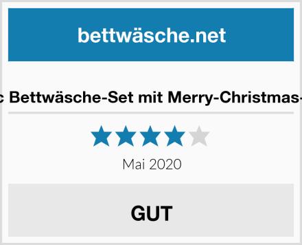Generic Bettwäsche-Set mit Merry-Christmas-Design Test