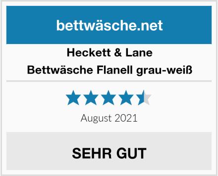 Heckett & Lane Bettwäsche Flanell grau-weiß Test