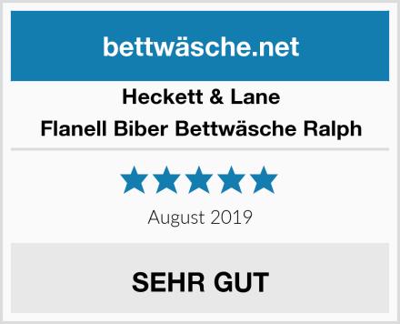Heckett & Lane Flanell Biber Bettwäsche Ralph Test