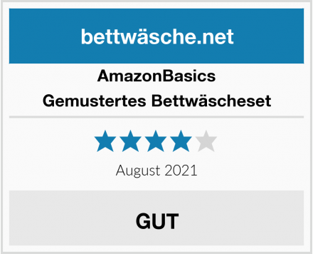 AmazonBasics Gemustertes Bettwäscheset Test