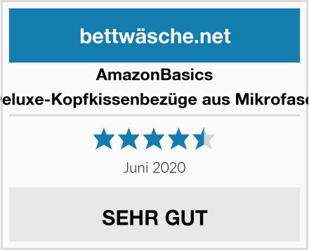 AmazonBasics Deluxe-Kopfkissenbezüge aus Mikrofaser Test