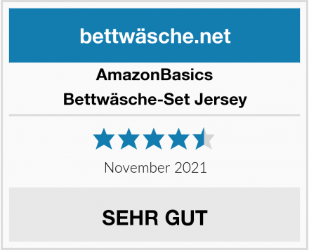 AmazonBasics Bettwäsche-Set Jersey Test