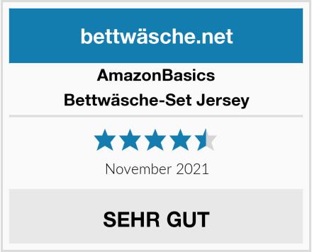 AmazonBasics Bettwäsche-Set Jersey Test