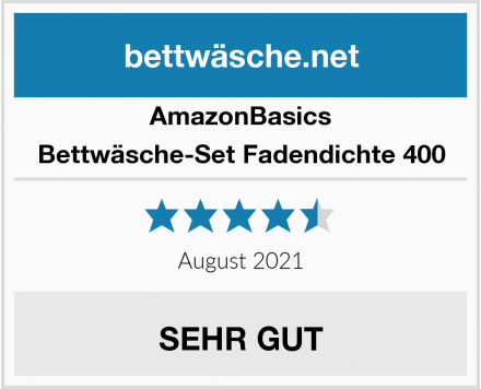 AmazonBasics Bettwäsche-Set Fadendichte 400 Test