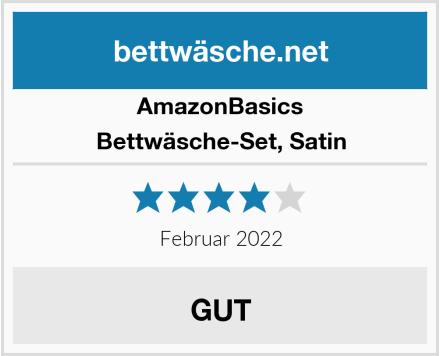 AmazonBasics Bettwäsche-Set, Satin Test