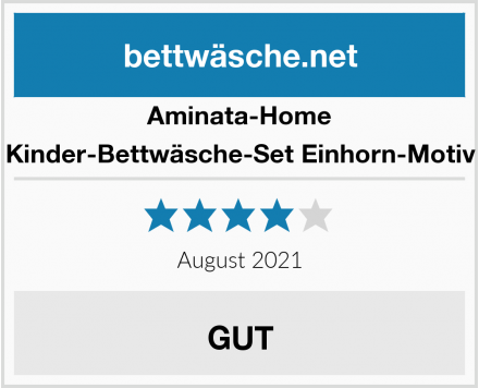 Aminata-Home Kinder-Bettwäsche-Set Einhorn-Motiv Test