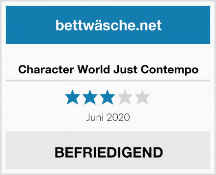 Character World Just Contempo Test