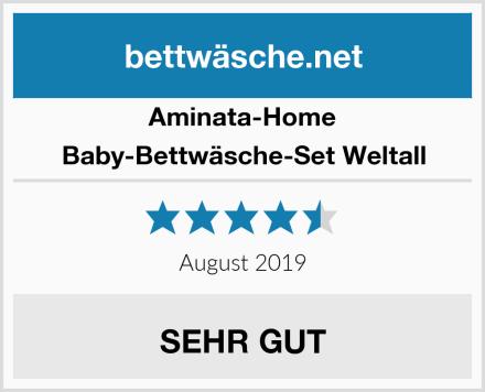 Aminata-Home Baby-Bettwäsche-Set Weltall Test