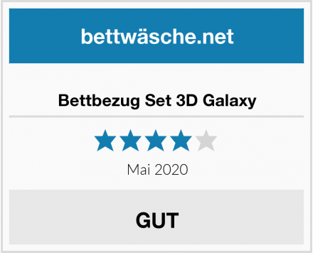 Bettbezug Set 3D Galaxy Test