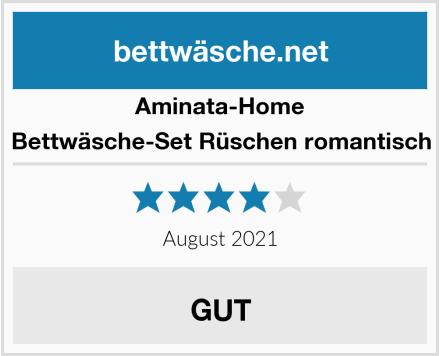 Aminata-Home Bettwäsche-Set Rüschen romantisch Test