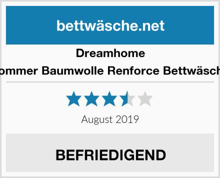 Dreamhome Sommer Baumwolle Renforce Bettwäsche Test