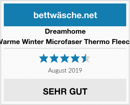 Dreamhome Warme Winter Microfaser Thermo Fleece Test