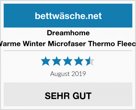 Dreamhome Warme Winter Microfaser Thermo Fleece Test