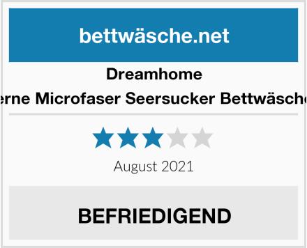 Dreamhome 2 tlg Moderne Microfaser Seersucker Bettwäsche Design 5 Test