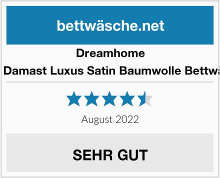Dreamhome Hotel Damast Luxus Satin Baumwolle Bettwäsche Test