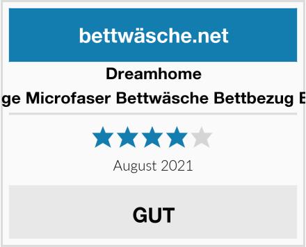 Dreamhome 2 teilige Microfaser Bettwäsche Bettbezug Boxes Test