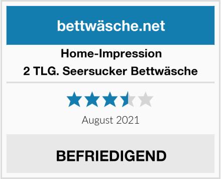 Home-Impression 2 TLG. Seersucker Bettwäsche Test