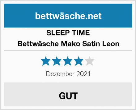 SLEEP TIME Bettwäsche Mako Satin Leon Test