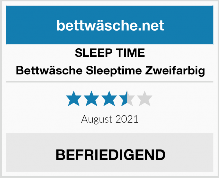 SLEEP TIME Bettwäsche Sleeptime Zweifarbig Test