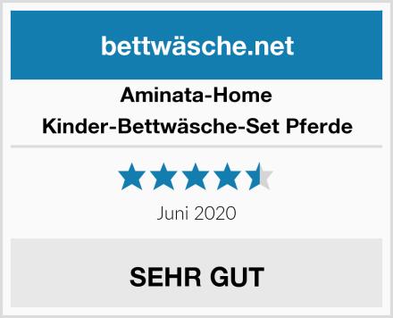 Aminata-Home Kinder-Bettwäsche-Set Pferde Test