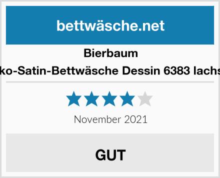 Bierbaum Mako-Satin-Bettwäsche Dessin 6383 lachs 08 Test