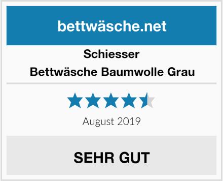 Schiesser Bettwäsche Baumwolle Grau Test