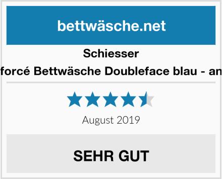 Schiesser Renforcé Bettwäsche Doubleface blau - anthra Test