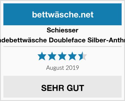 Schiesser Wendebettwäsche Doubleface Silber-Anthrazit Test