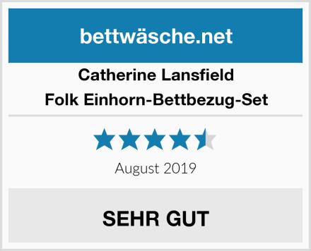 Catherine Lansfield Folk Einhorn-Bettbezug-Set Test