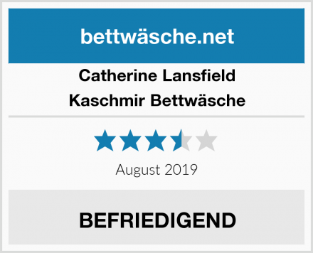 Catherine Lansfield Kaschmir Bettwäsche Test
