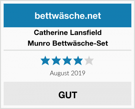 Catherine Lansfield Munro Bettwäsche-Set Test