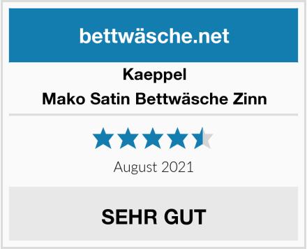 Kaeppel Mako Satin Bettwäsche Zinn Test