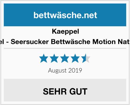 Kaeppel Edel - Seersucker Bettwäsche Motion Natur 1 Test