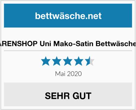 G BETTWARENSHOP Uni Mako-Satin Bettwäsche Bordeaux Test