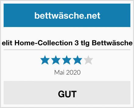 elit Home-Collection 3 tlg Bettwäsche Test