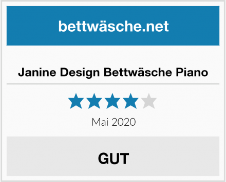 No Name Janine Design Bettwäsche Piano Test