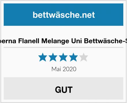 No Name biberna Flanell Melange Uni Bettwäsche-Set Test