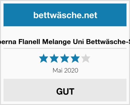 biberna Flanell Melange Uni Bettwäsche-Set Test