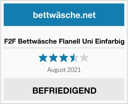 F2F Bettwäsche Flanell Uni Einfarbig Test